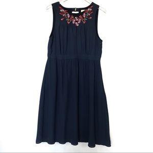 ModCloth Fervour Embroidered Midi Dress Size XL